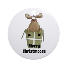 Christmoose Ornament (Round)