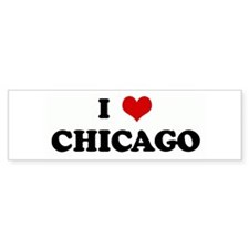 I Love CHICAGO Bumper Sticker (50 pk)