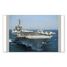 USS Kitty Hawk Rectangle Sticker 50 pk)