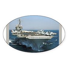 USS Kitty Hawk Oval Sticker (50 pk)