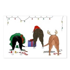 Staffie Christmas Postcards (Package of 8)