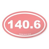 140.6 Swim Bike Run Ironman Red Oval Decal