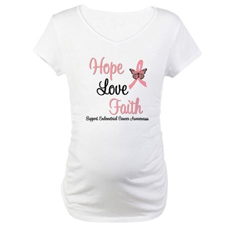 Endometrial Survivor Maternity T-Shirt