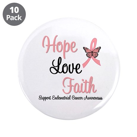 "Endometrial Survivor 3.5"" Button (10 pack)"