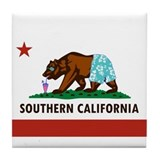 So Cal Flag Tile Coaster