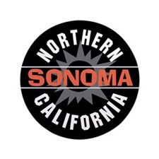 "Sonoma California 3.5"" Button"