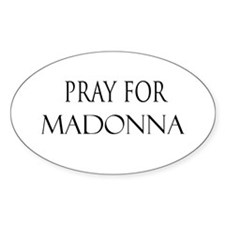 MADONNA Oval Decal