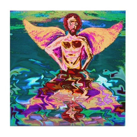 The Faery's Reflection Tile Coaster