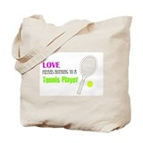 Tennis Player quote Tote Bag