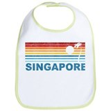 Retro Palm Tree Singapore Bib