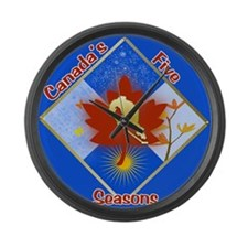 Canada's 5 Seasons Large Wall Clock