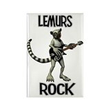 Lemurs Rock Rectangle Magnet