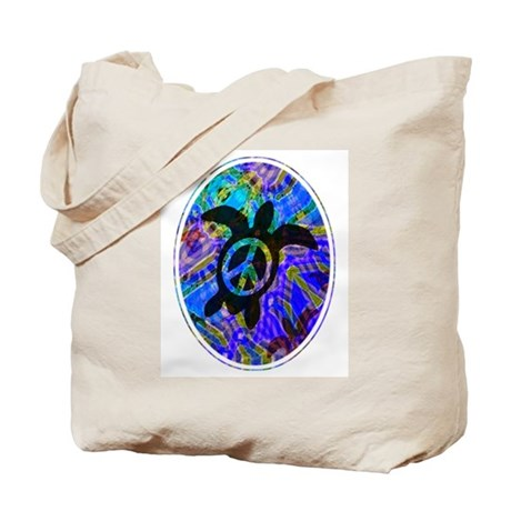 Peace Turtles Tote Bag