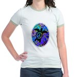 Peace Turtles Jr. Ringer T-Shirt