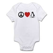 peace love linux Infant Bodysuit