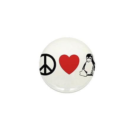 peace love linux Mini Button