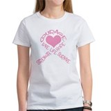 Pink Ribbon of Words Tee