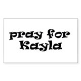 KAYLA Rectangle Bumper Stickers