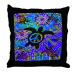 Peace Turtles Throw Pillow