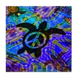 Peace Turtles Tile Coaster