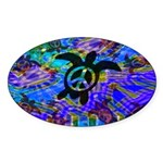 Peace Turtles Oval Sticker