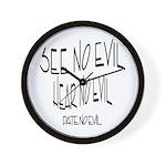 Date No Evil Wall Clock
