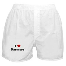 I Love Farmers Boxer Shorts