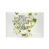 Buddha Noble - Animals and Floral Rectangle Magnet