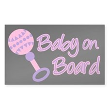 Baby on Board Rectangle Sticker 10 pk)