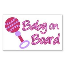 Baby on Board Rectangle Stickers