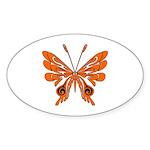 Butterfly Tattoo Oval Sticker (10 pk)