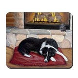 Border Collie Fireplace Mousepad