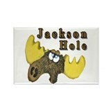 Jackson Hole moose Rectangle Magnet (10 pack)