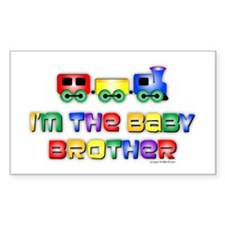 Baby Bro Choo Choo Train Rectangle Stickers