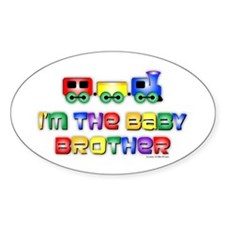 Baby Bro Choo Choo Train Oval Sticker (10 pk)