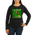 I Love Lightningbugs Women's Long Sleeve Dark T-Sh