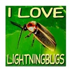 I Love Lightningbugs Tile Coaster