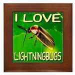 I Love Lightningbugs Framed Tile