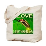 I Love Lightningbugs Tote Bag