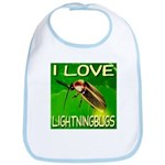 I Love Lightningbugs Bib
