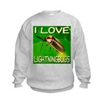 I Love Lightningbugs Kids Sweatshirt