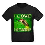 I Love Lightningbugs Kids Dark T-Shirt