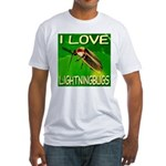 I Love Lightningbugs Fitted T-Shirt