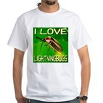 I Love Lightningbugs White T-Shirt