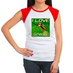 I Love Lightningbugs Women's Cap Sleeve T-Shirt
