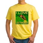 I Love Lightningbugs Yellow T-Shirt