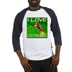 I Love Lightningbugs Baseball Jersey