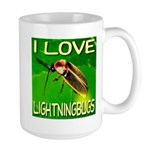 I Love Lightningbugs Large Mug