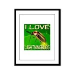 I Love Lightningbugs Framed Panel Print
