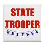Retired State Trooper Tile Coaster